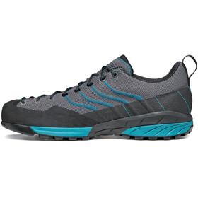 Scarpa Mescalito Knit Shoes Men gray/lakeblue